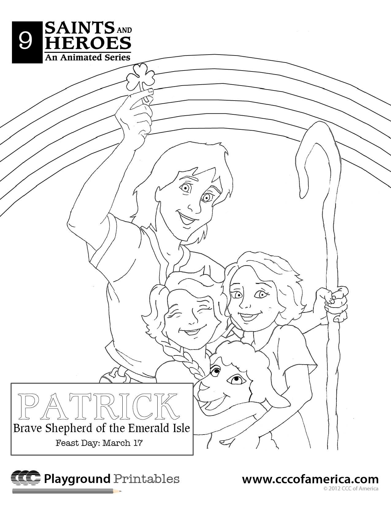 St Patrick Coloring Pages
