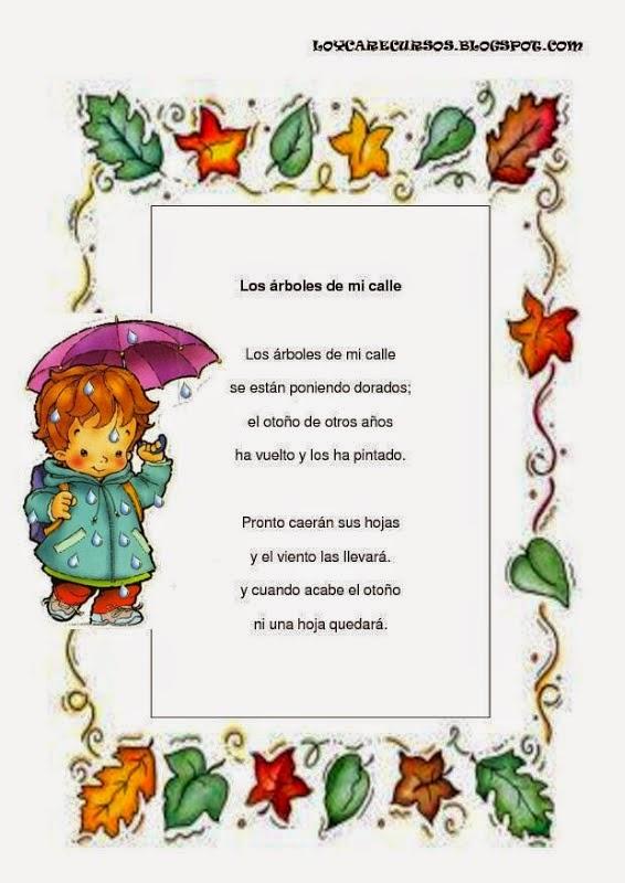 Poema Corto De La Naturaleza Para Niños Búsqueda De Google En 2020 Rimas Infantiles Poemas Cortos Para Niños Poemas De Otoño
