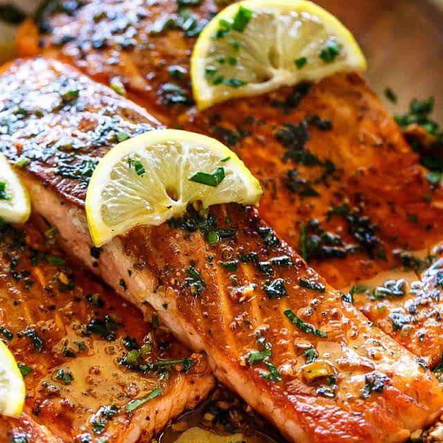 Photo of Crispy Seared Lemon Garlic Herb Salmon Recipe | Yummly