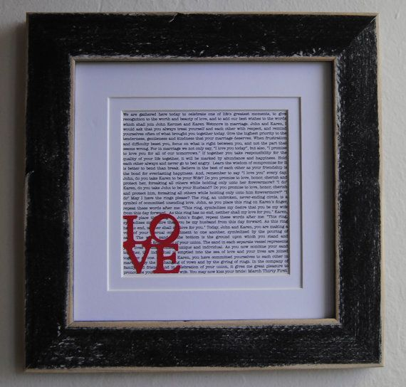 Wedding Vow Gifts: Wedding Vows/ Custom Wedding Vows/ Gift/ By