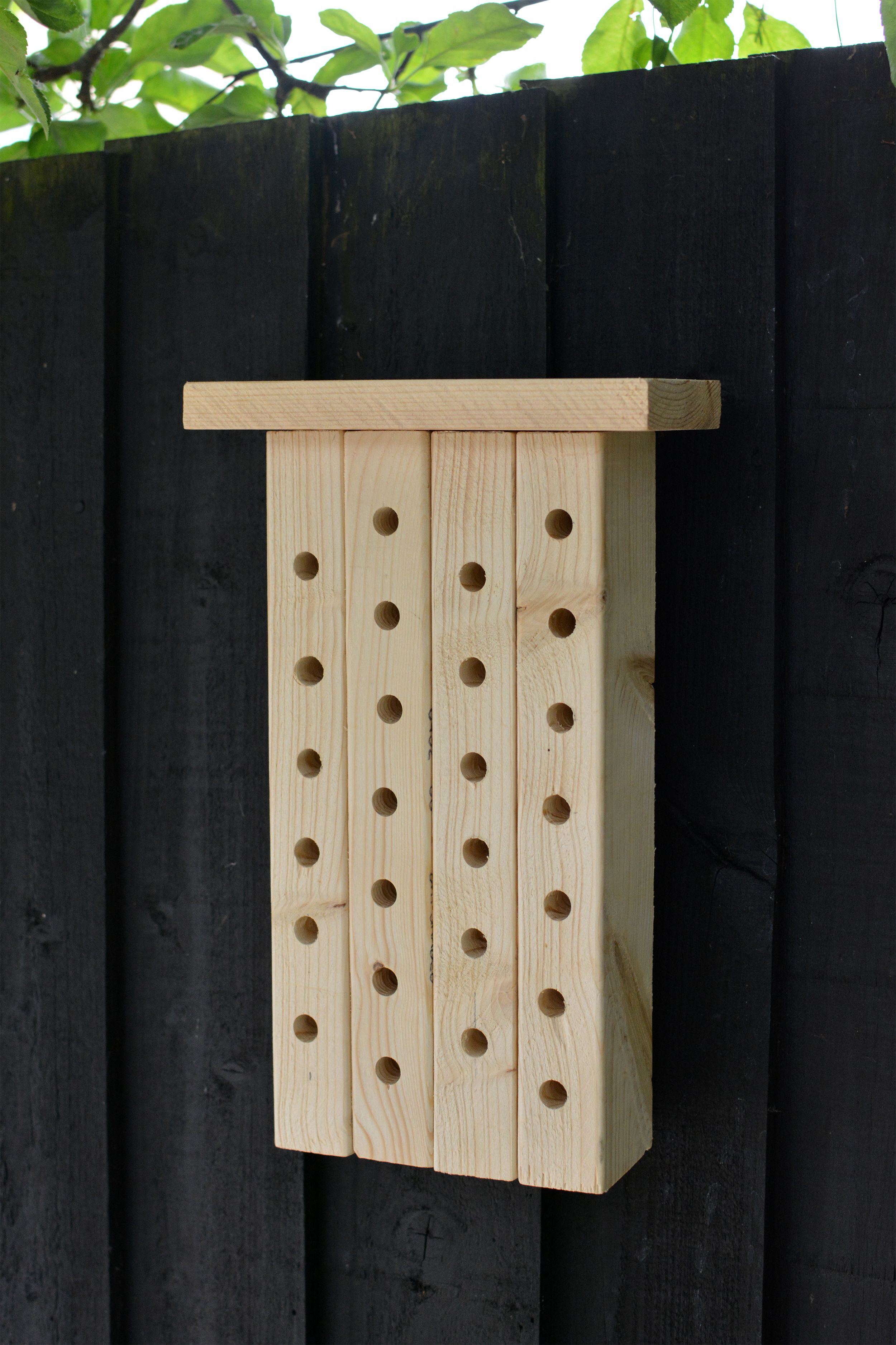 Attract solitary mason bees to your yard with a diy bee