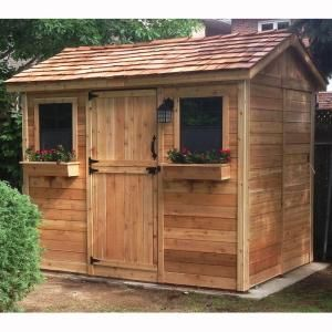 Outdoor Living Today Cabana 6 ft. x 9 ft. Western Red ... on Outdoor Living Today Cabana id=89778