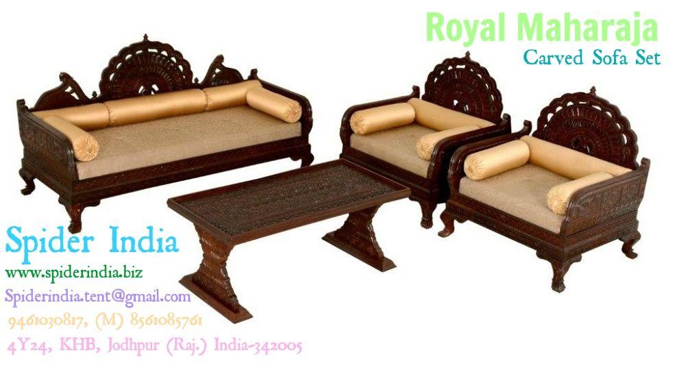 Teak wood carved sofa set sofas teak carved wood sofa spider