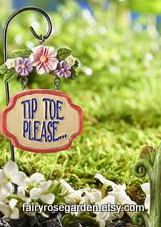 Fairy Garden Signs   Fairy Garden   Fairy House   Miniature Garden Sign   Gnome  Garden