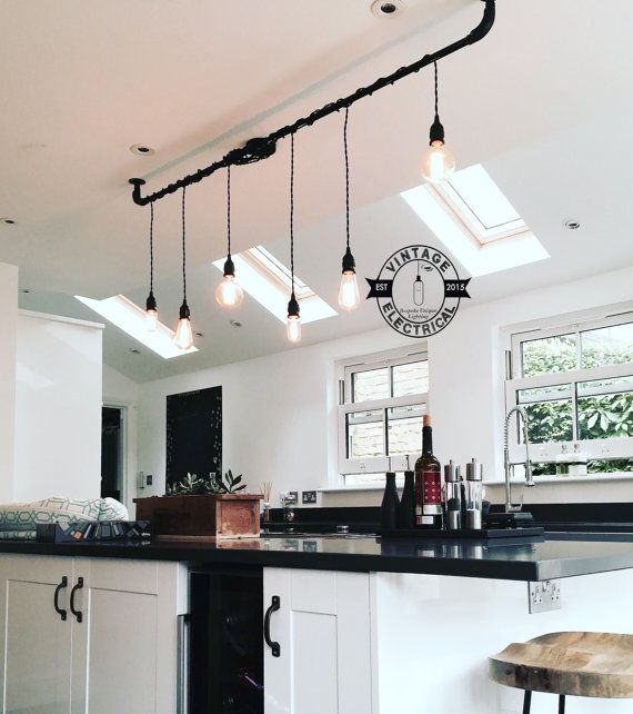 the burnham 6 x pendant drop light hanging lights ceiling dining room retro kitchen table   e27