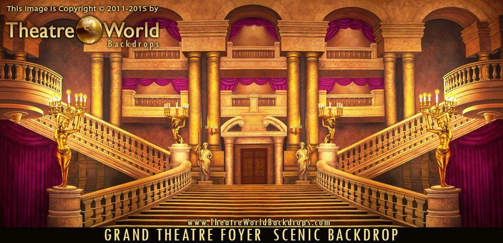 Theatreworldbackdrops Phantom Phantomoftheopera Masquerade Opera Stage Backdrop Backdrops Staircase Art