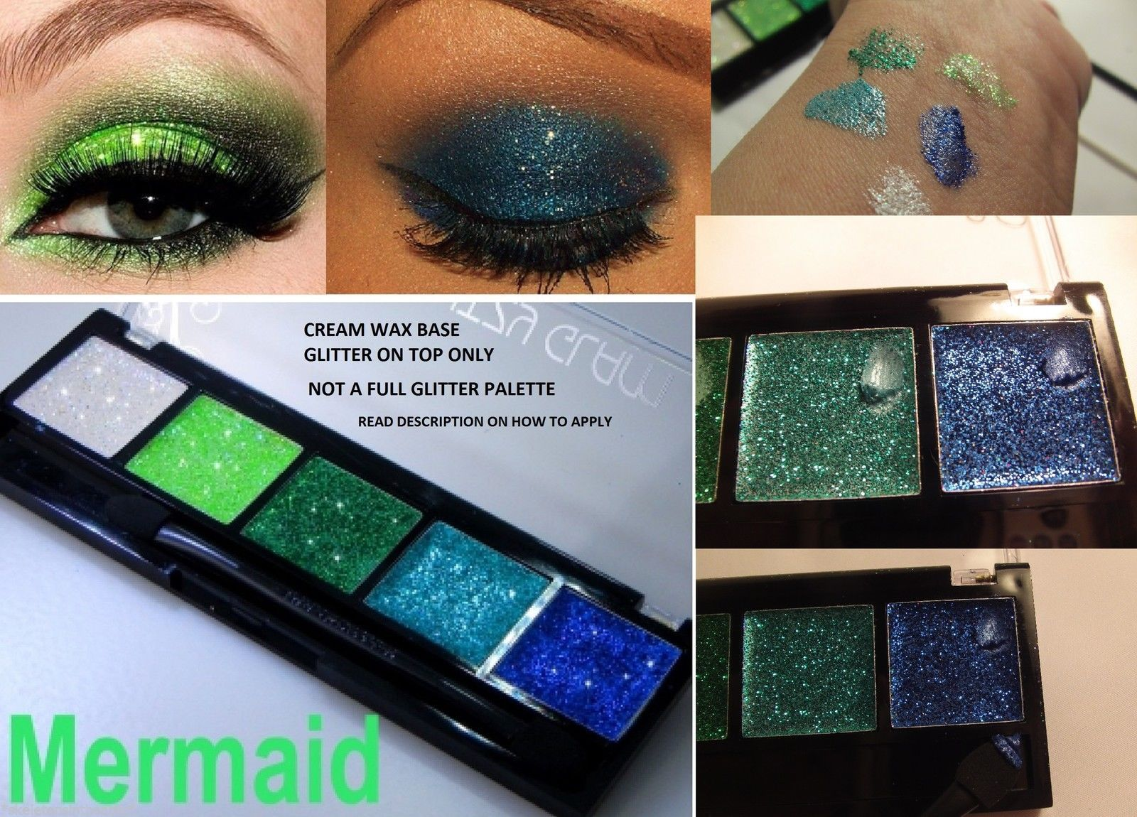 Pin by Pinne Hedhe on Swatches Glitter eyeshadow palette