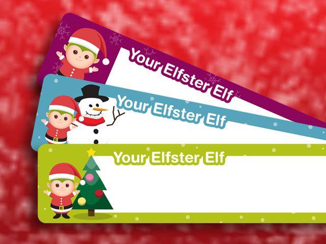 Holiday Return Address Labels Printable Santa gift tags