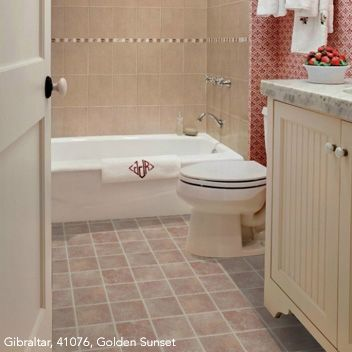 Photo Album Gallery The Bathroom in this vinyl flooring ideas for bathroom looks astounding without being added with other