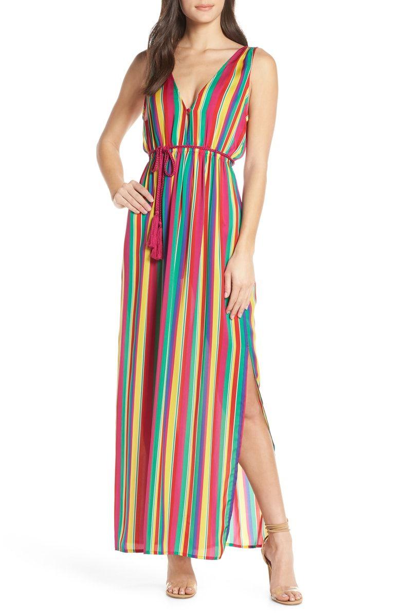 Bb Dakota N The Rainbows Stripe Maxi Dress Nordstrom Striped Maxi Nordstrom Dresses Striped Maxi Dresses [ 1196 x 780 Pixel ]