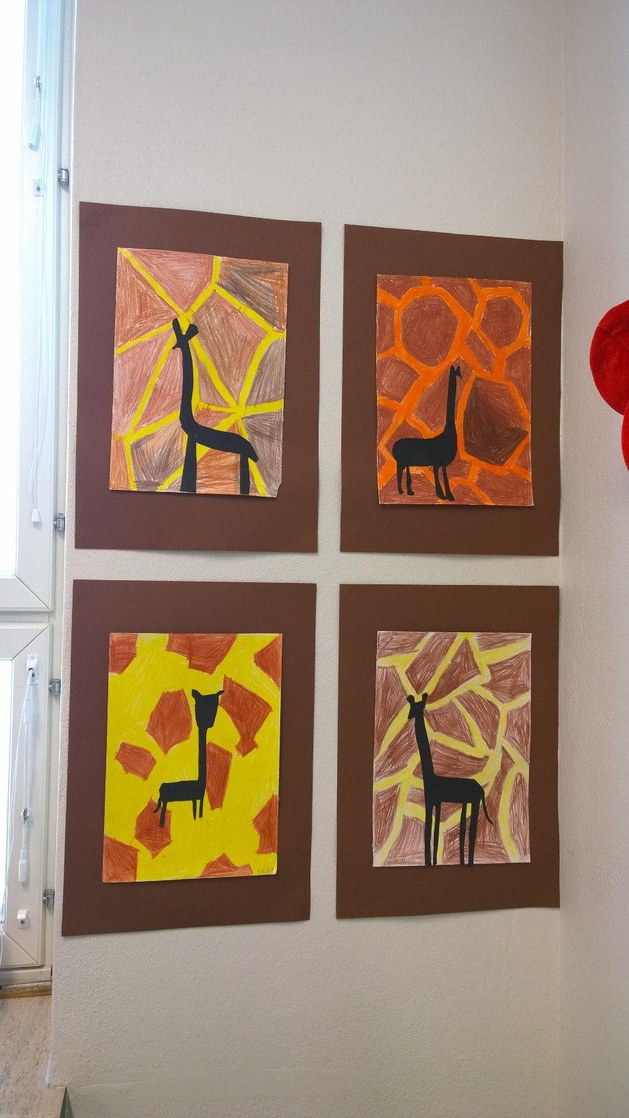 Kolmosten Kuvis Animal Crafts Art Kids Projects Africa
