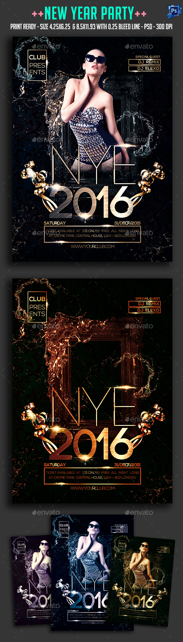 2021 New Year Party Flyer Party flyer, New years party