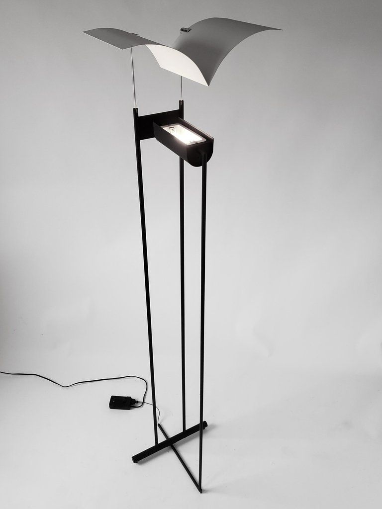 1980s Tall Halogen Floor Lamp Bird In Flight Italy Halogen Floor Lamp Floor Lamp Lamp