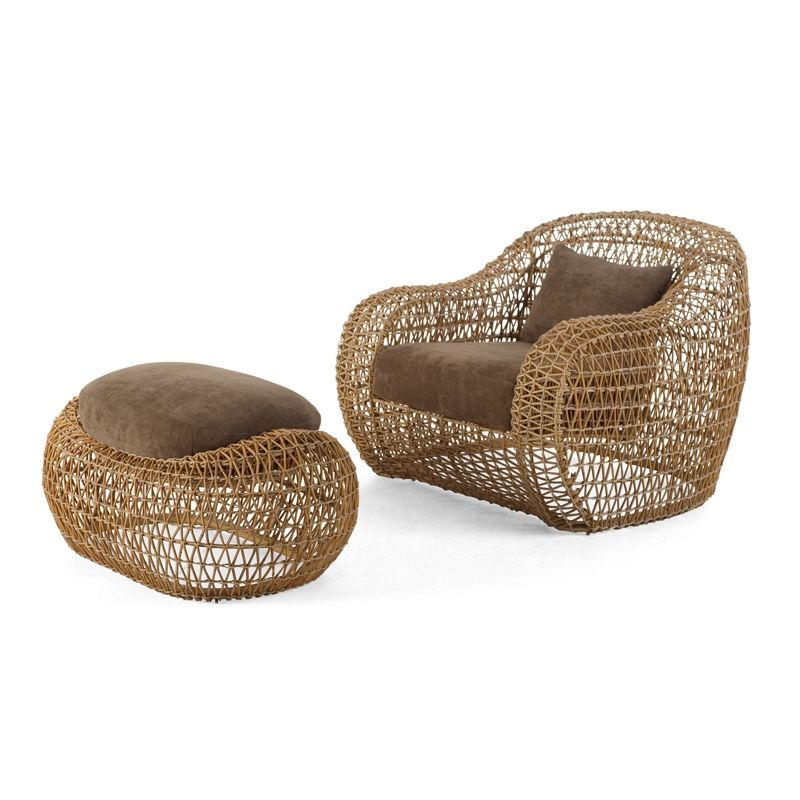 Balou Ottoman, de Kenneth Cobonpue Exterior - Life for Home - balou rattan mobel kenneth cobonpue