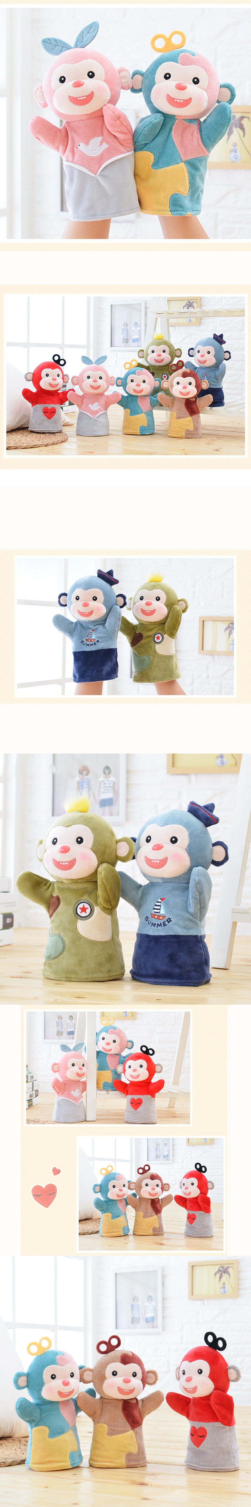 2016 funny home decor monkey for kids decoration crafts cotton