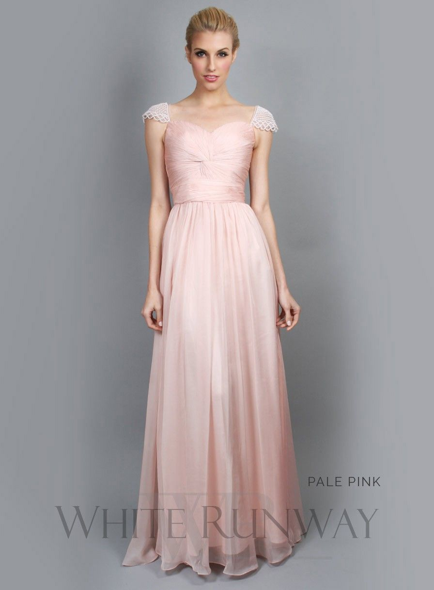 Sweet Pearl Cap Sleeve Bridesmaid Dress | Shauna and Paddys ...
