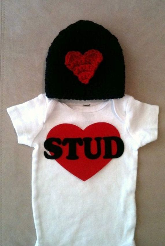 valentines day outfit for baby boys stud onesie by rbsdesigns 3400 - Infant Valentines Day Outfits