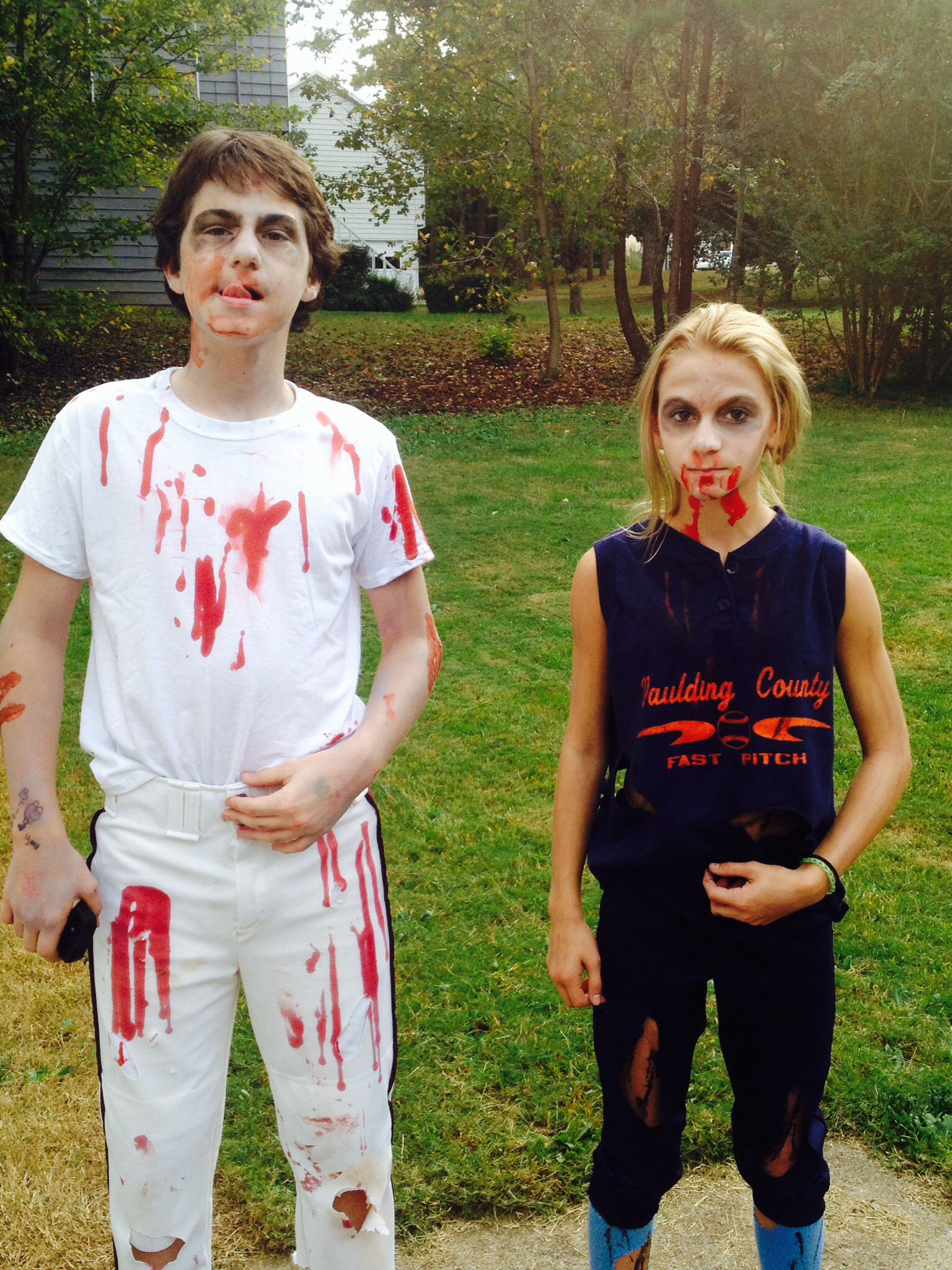 Zombie Baseball And Softball Players Halloween Costume
