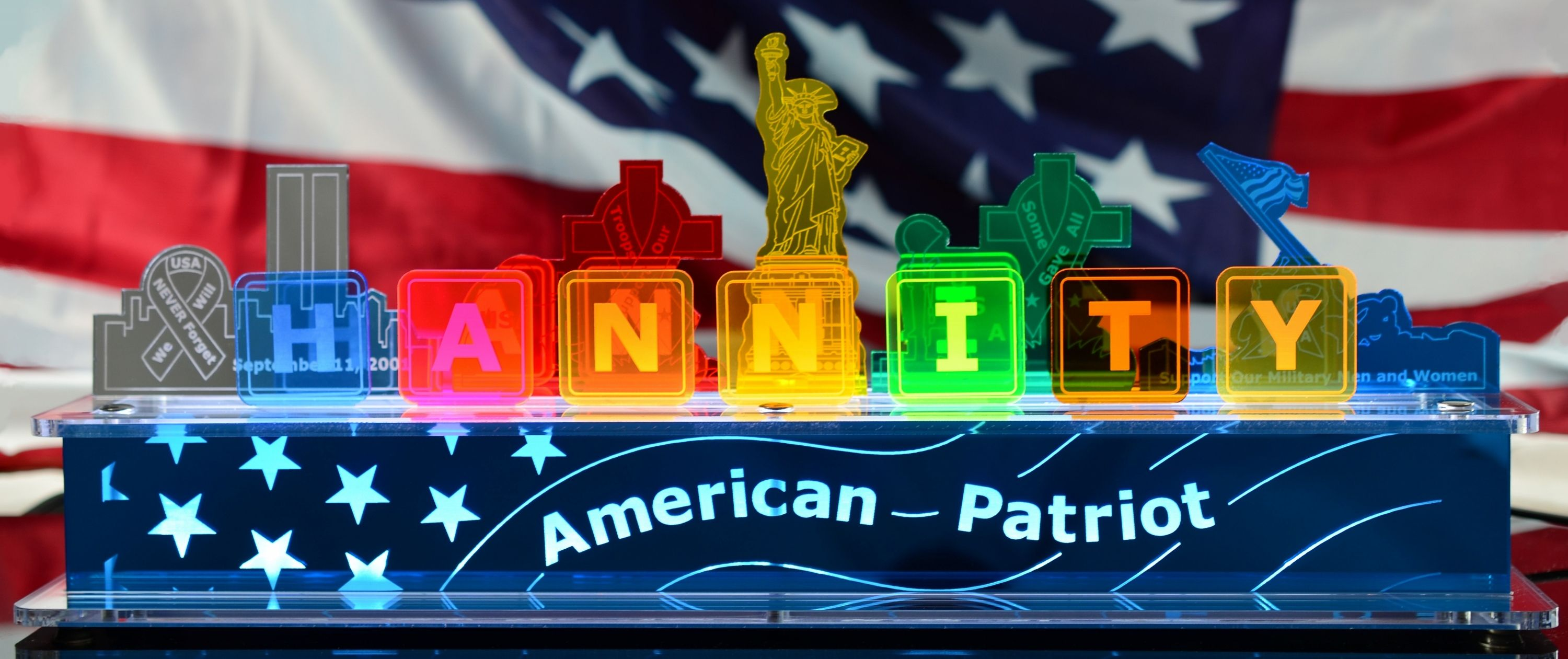 Promotional PBM American Patriot Display Lamp sent to Radio and TV