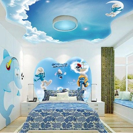 Free Shipping 3d Stereoscopic Mural Wallpaper The Living Room Bedroom Wall Roof Ceiling Ceiling Childr Kids Room Design Kid Room Decor Pop False Ceiling Design