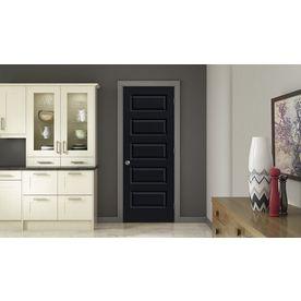 ReliaBilt Midnight Prehung Hollow Core 5 Panel Equal Interior Door (Common:  30