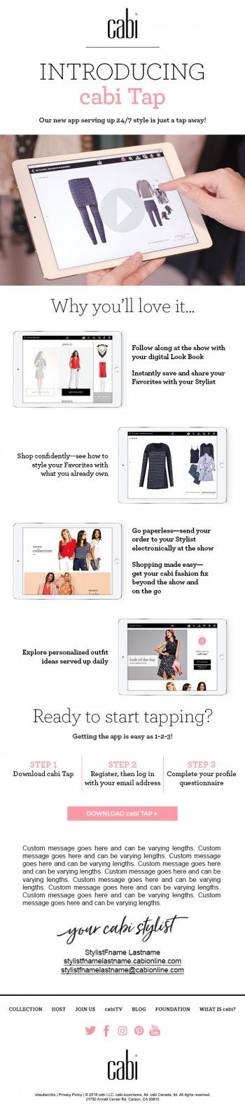 The Cool New Cabi App Cabi Tap It Is So Cool So Fun And So Useful Check It Out Jeanettemurphey Cabionline Co Cabi Putting Outfits Together Personal Style