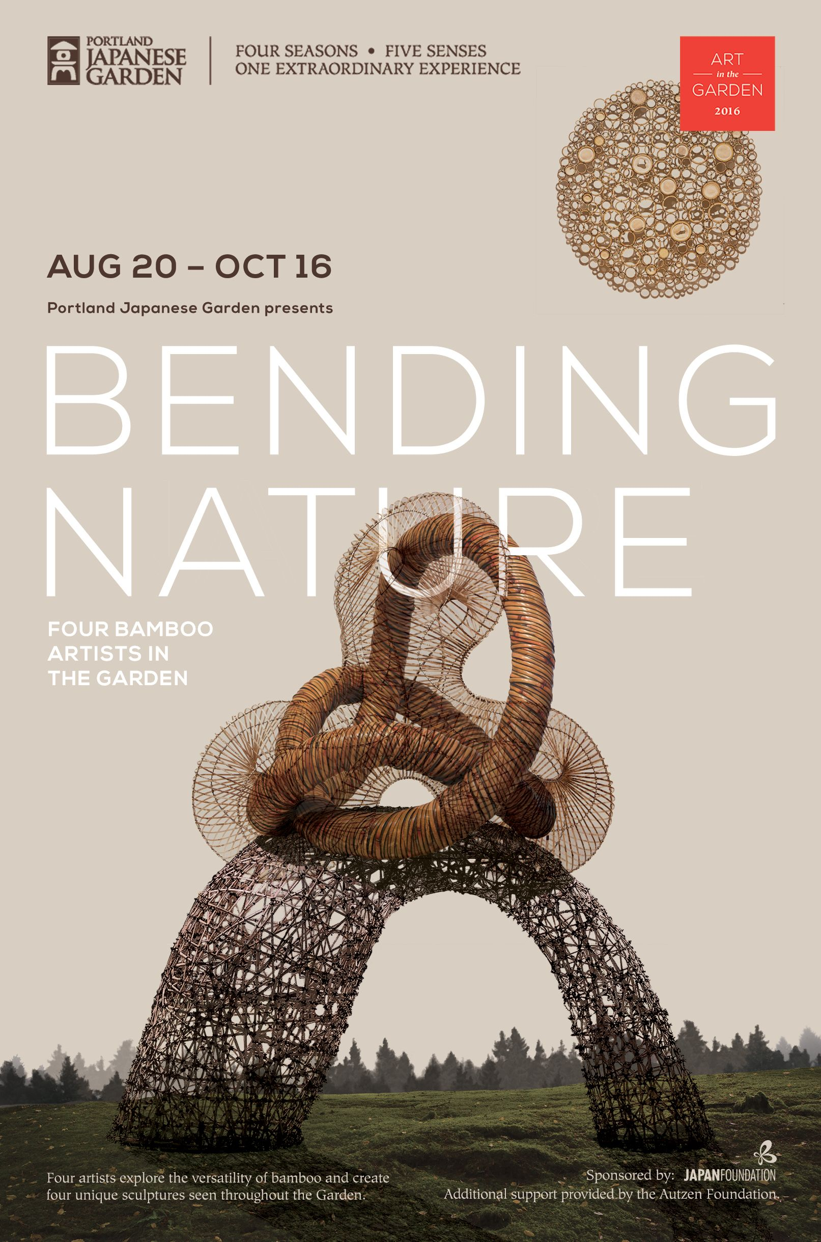 bending nature four bamboo artists in the garden - Bamboo Garden 2016