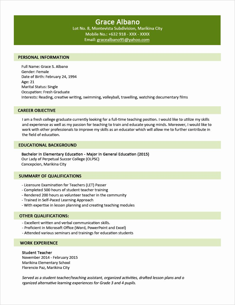23 Two Page Resume Example in 2020 Sample resume format