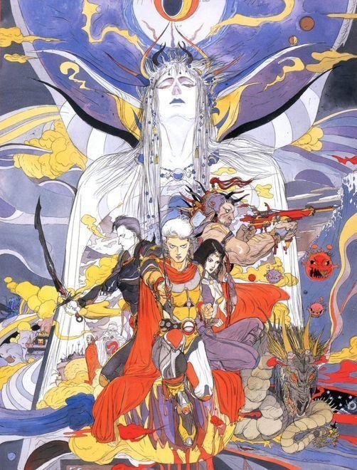 Photo of Poster designs  #yoshitaka #amano #final #fantasy #artworks yoshitaka amano fina…