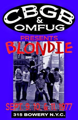 "Blondie Concert Poster 1977 The Bowery • • 100% Mint unused condition • Well discounted price + we combine shipping • Click on image for awesome view • Poster is 12"" x 18"" • Semi-Gloss Finish • Great Music Collectible - superb copy of original • Usually ships within 72 hours or less with > tracking. • Satisfaction guaranteed or your money back. Sportsworldwest.com"