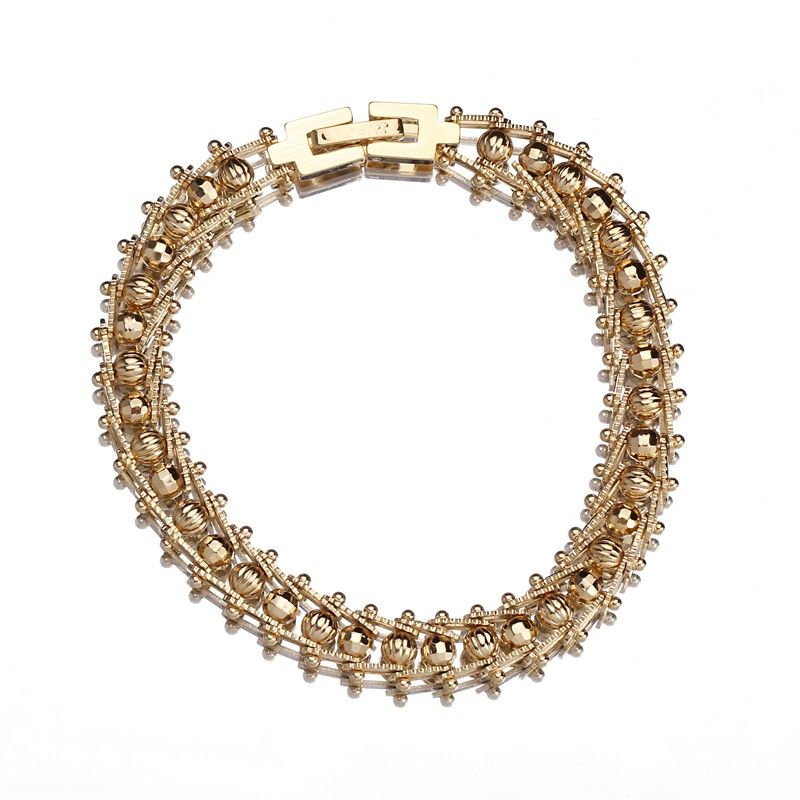Versatile Shape Golden Hand Chain 18k Plated Gold for Wrist Decoration
