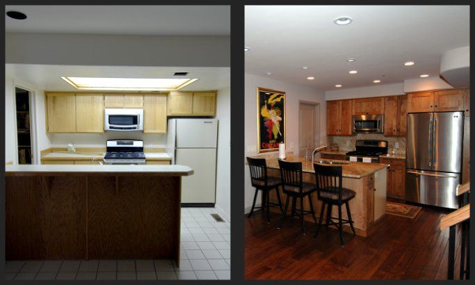 Kitchen Renovation Before And After condo renovations before and after | before and after photo of a