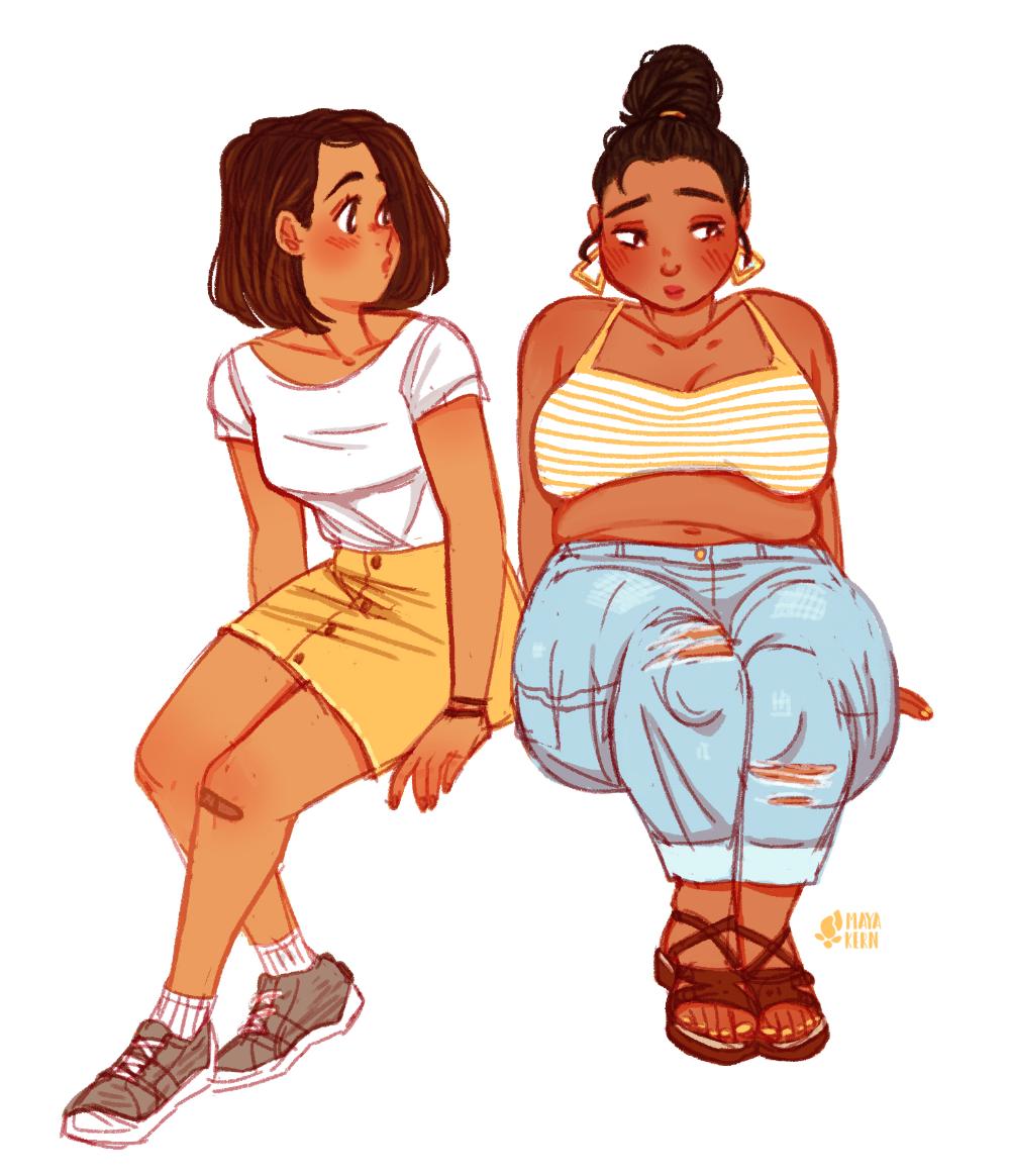 Bbw Lesbian Seduce Teen
