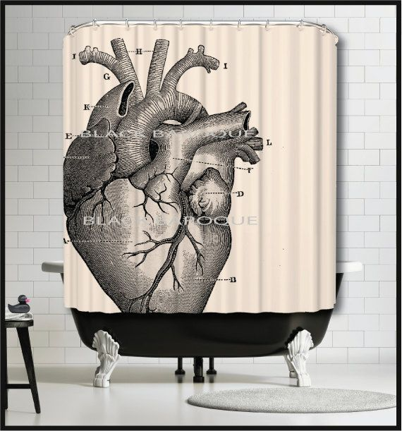 Human Heart Shower Curtain