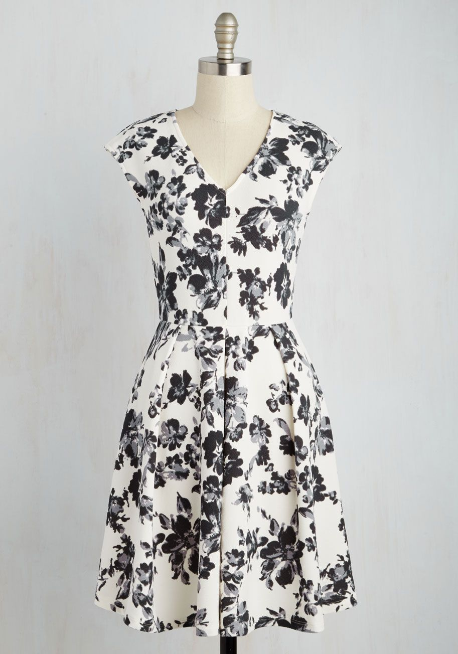 Cute Solution Dress. With this white A-line in your closet, looking sharp is never a dilemma! #white #modcloth