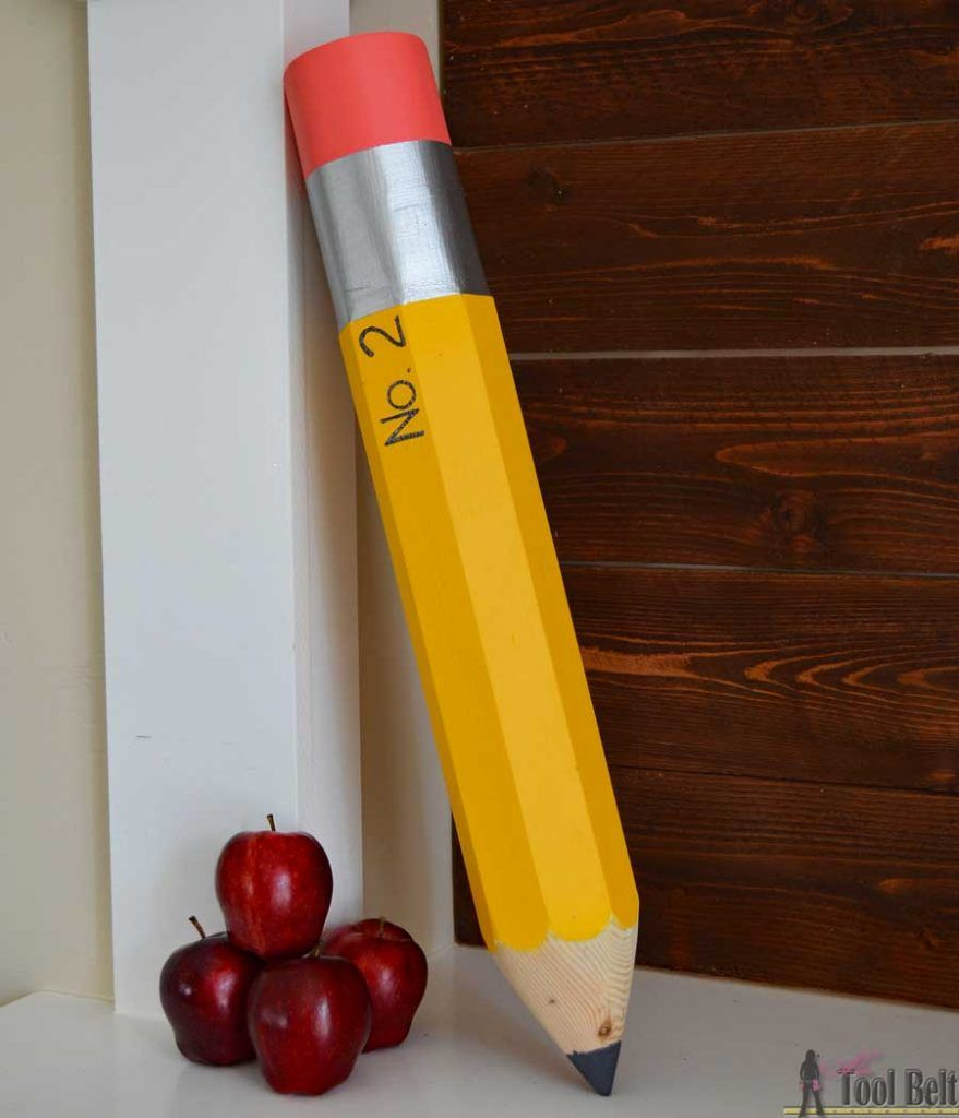 Giant Pencil Decoration | ☆ Hometalk Fall DIY Inspiration ...