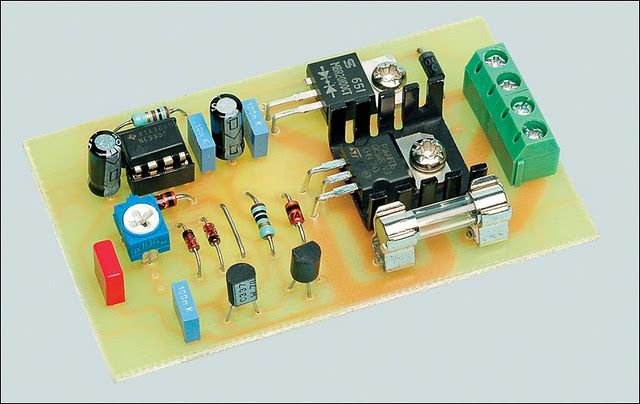 12V motor speed controller or lamp dimmer schematic circuit #coolelectronics