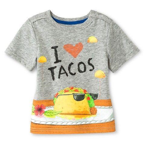 Baby Boys Dragons Love Tacos Tee Shirt