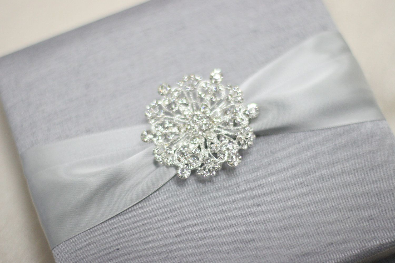 Wedding Invitation Silk Fabric Box with Satin Ribbon and a Shimmery ...