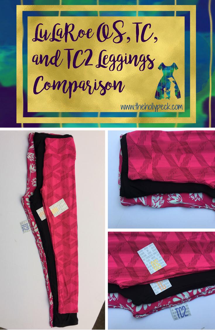 Lularoe Os Leggings Tc And Tc2 Size Comparison Visual Layout