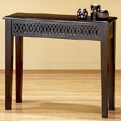love the detail work on this table; good for an entryway