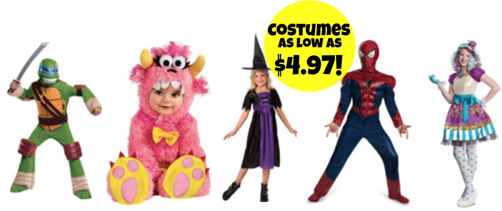 walmart: kids' & babies halloween costumes as low as $4.97 +
