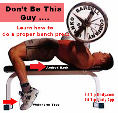 Correct Bench Press Technique For A Better Physique Fit Tip Daily Bench Press Workout Guide Workout For Beginners