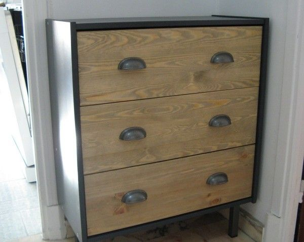 Commode RAST industrielle personnalisée Ikea hack, Bedrooms and Woods