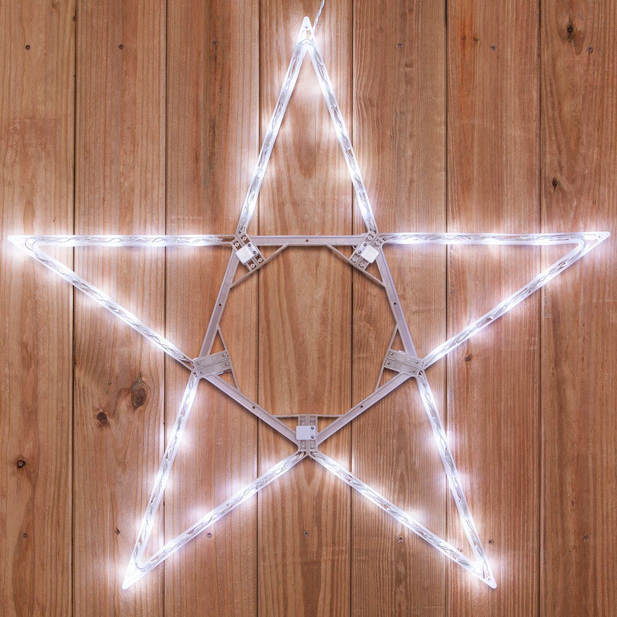 Christmas Star Lights Outdoor Christmas Hanging Led Star  Cool Bright White Outdoor  Outdoor