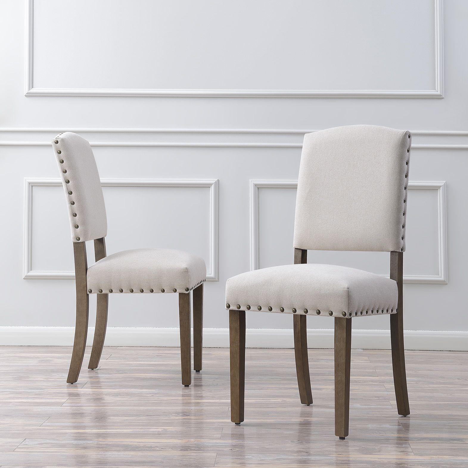 Belleze set of 2 modern chair dining seat parsons