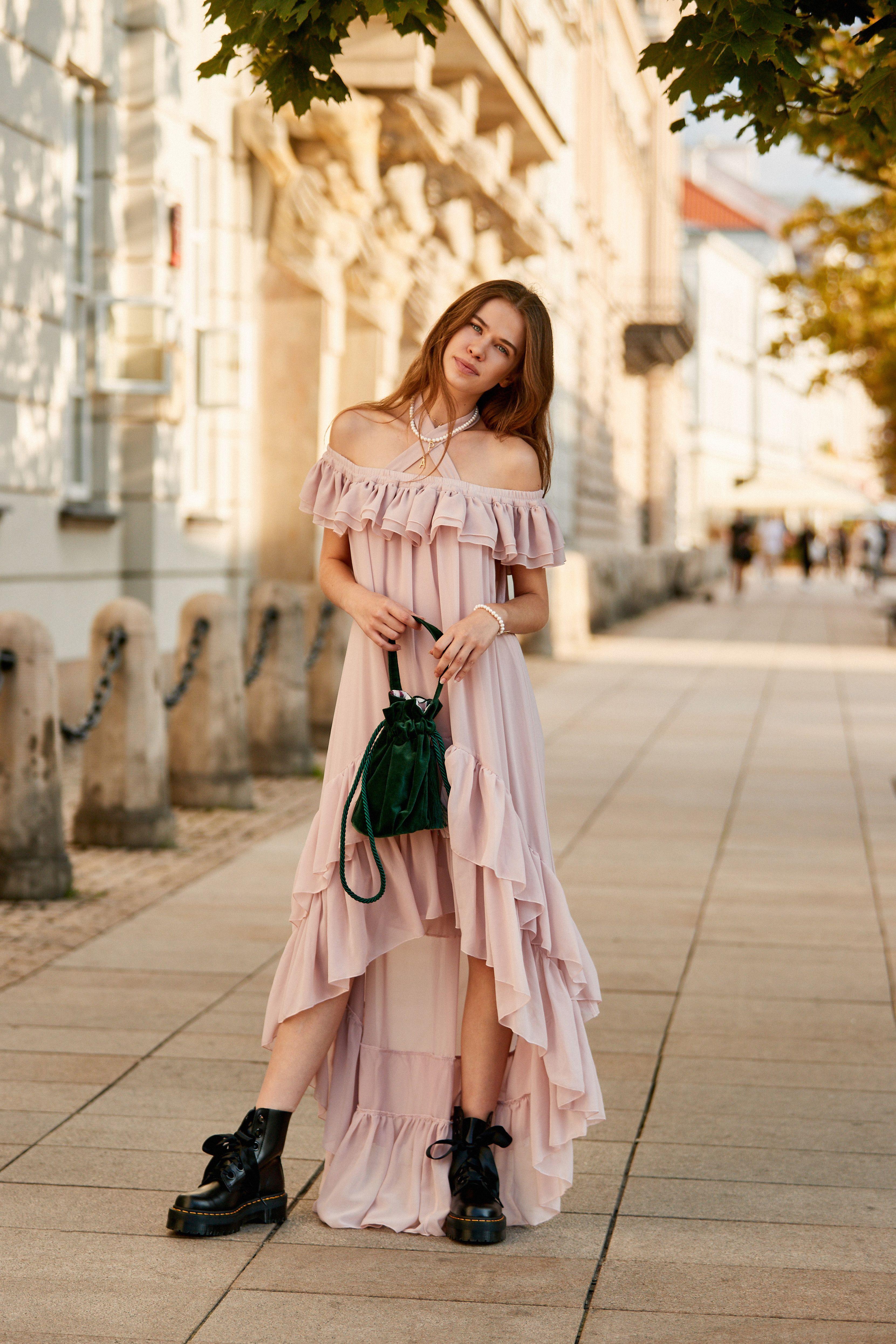 Sukienka Maxi Lou Fashion Dresses Shoulder Dress