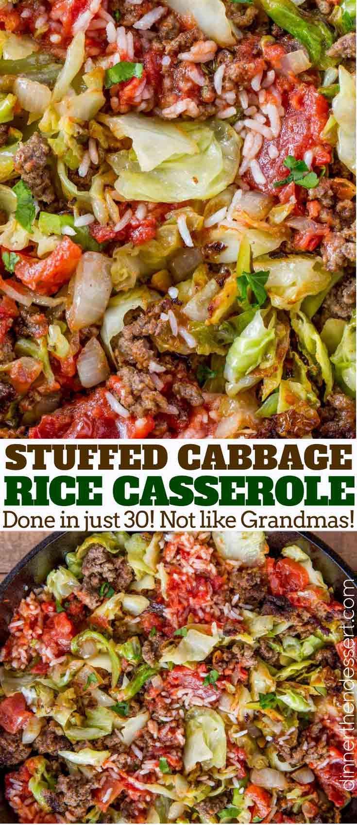 Photo of Stuffed Cabbage Casserole – Dinner, then Dessert