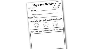 Preview My Book Review Writing Worksheet   Little Fingers