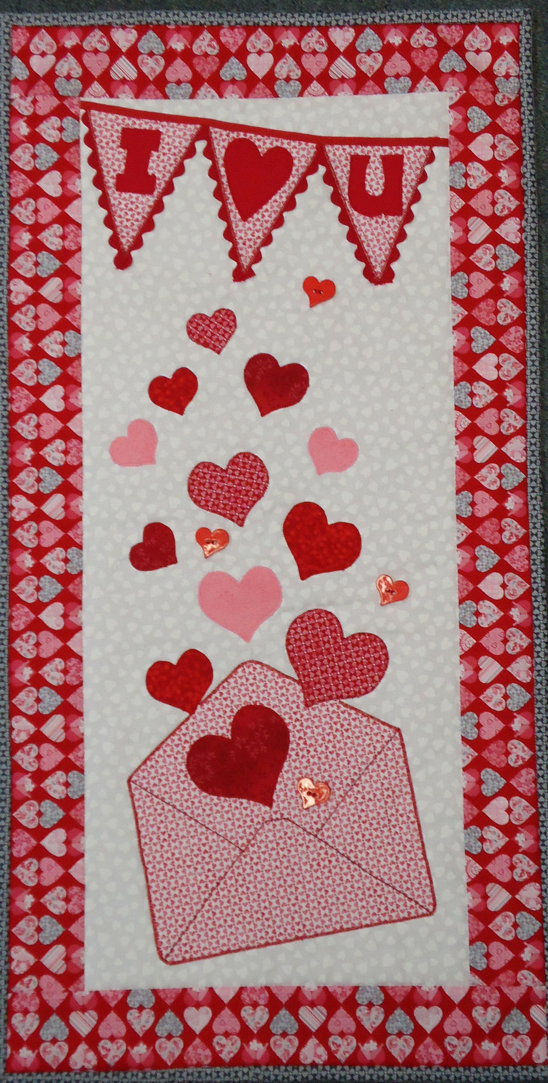 Love Letters Quilt Design Wall Valentines Door Hanger Diy Valentine S Day Decorations